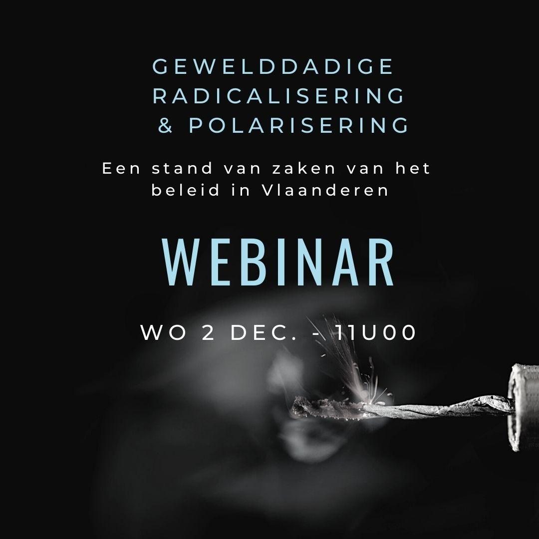 Webinar - Gewelddadige radicalisering en polarisering: Een stand van zaken van het beleid in Vlaanderen