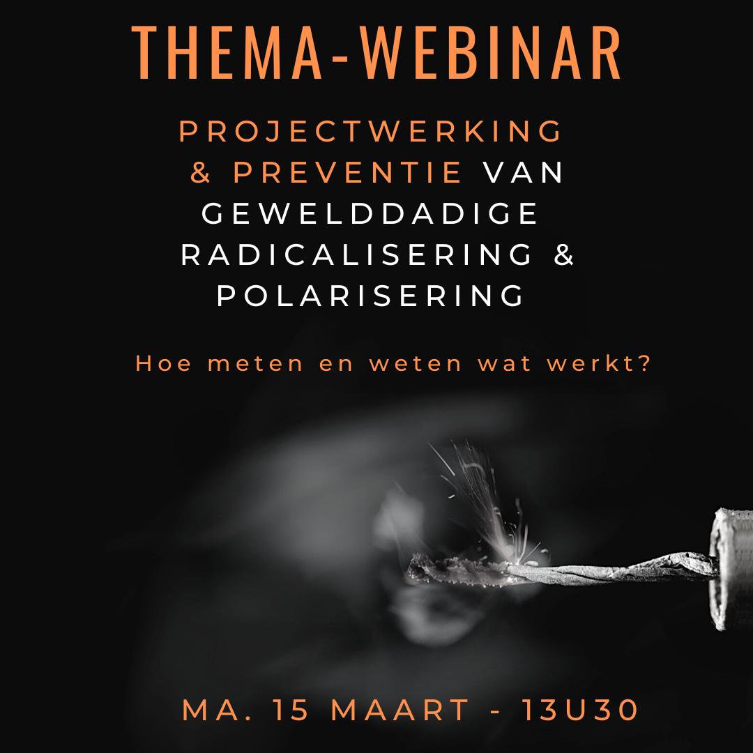 Themawebinar - Projectwerking in het kader van de preventie van gewelddadige radicalisering: Hoe meten en weten wat werkt?